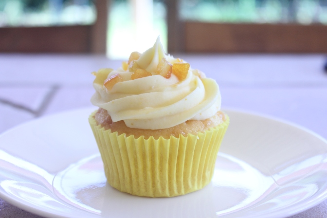 Orange Butter Cupcakes with Orange Cream Cheese Frosting
