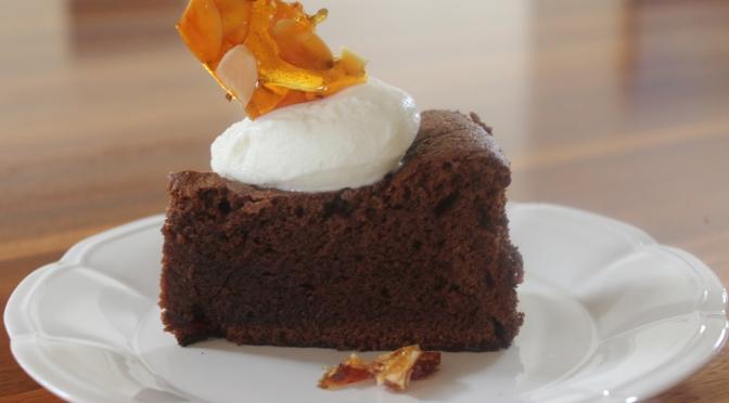 Flourless Chocolate Cake & Almond Praline