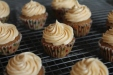 Spiced fig cupcakes with Salted Caramel Frosting | Recipe here: https://aliciaspunsugar.wordpress.com/2014/03/22/spiced-fig-cupcake-with-salted-caramel-frosting/