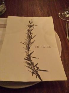 Chiswick menu