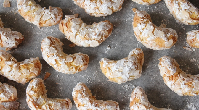 Almond Crescent Macaroons