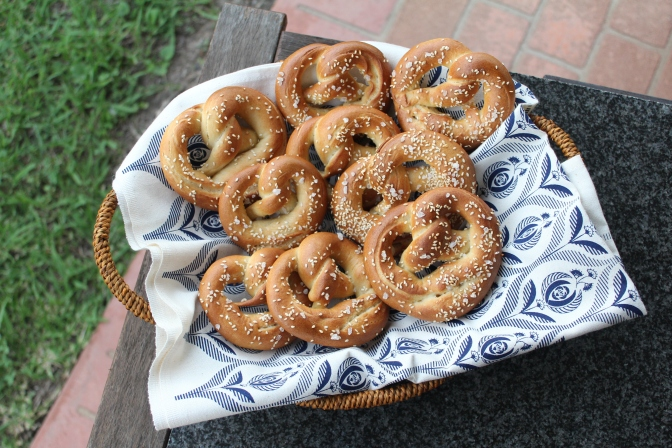 Classic Rock Salt and Sesame Pretzels