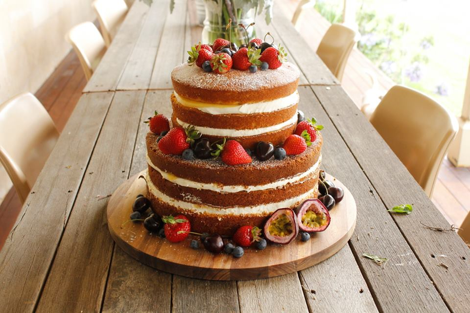 Passionfruit Naked Cake With Lemon And Passionfruit Curd Alicia